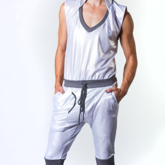 We Are All Onsie Other - Unisex festival burning man rave silver onesie S